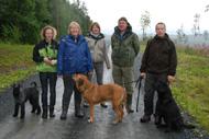 På promenad med familjen Bernro (Henrik saknas)