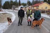 På promenad i Brännberg