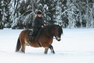 Jenni och Timur i snön