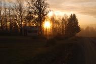 En vacker oktobermorgon i Oxböle
