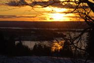 Solnedgång över Storsjön sett från Frösö Kyrka