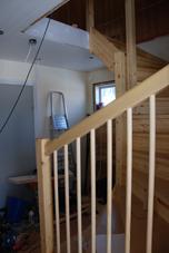 trappan sedd från ytterdörren